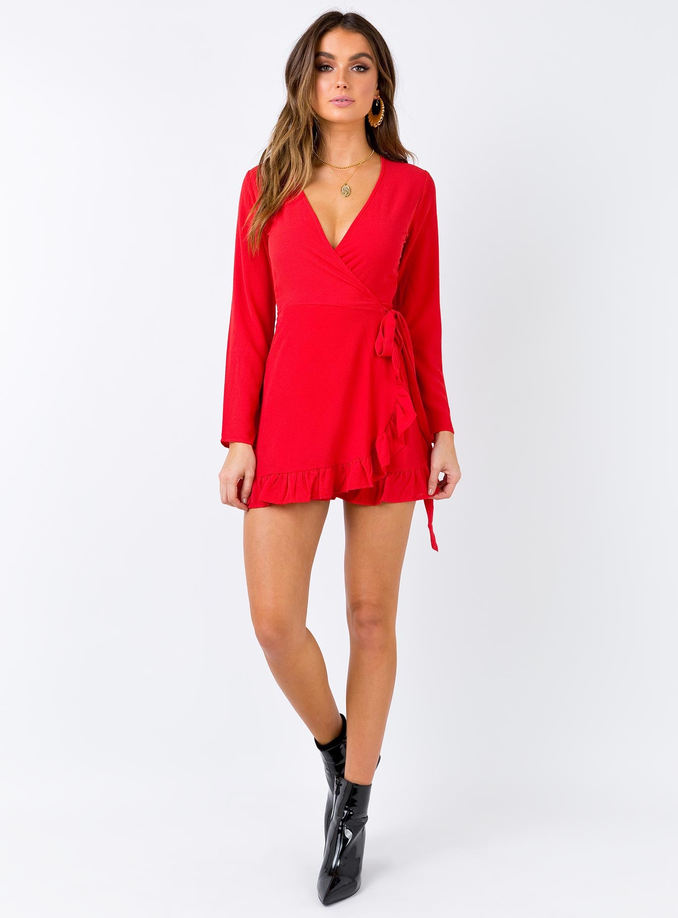 Agnetha Mini Dress Red