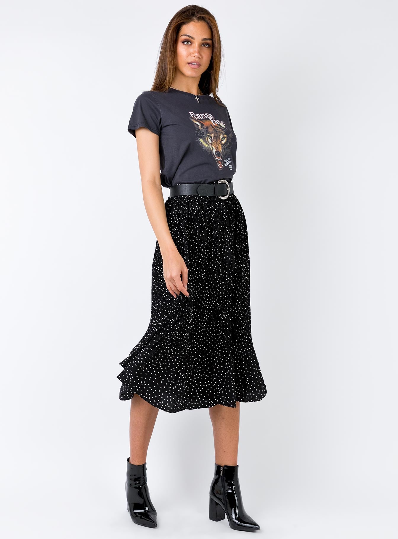 Nebula Midi Skirt Black