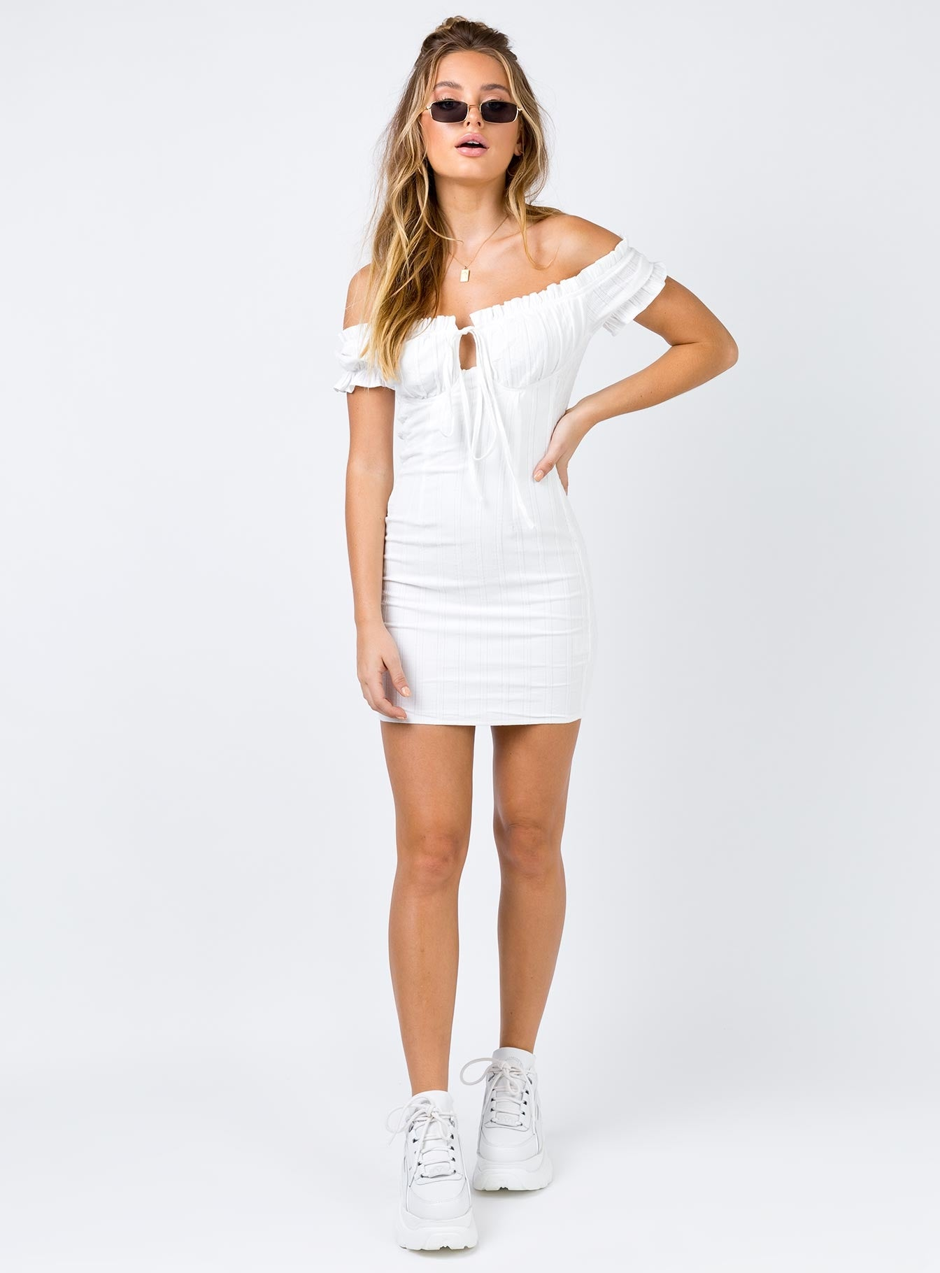 The Kipp Mini Dress White