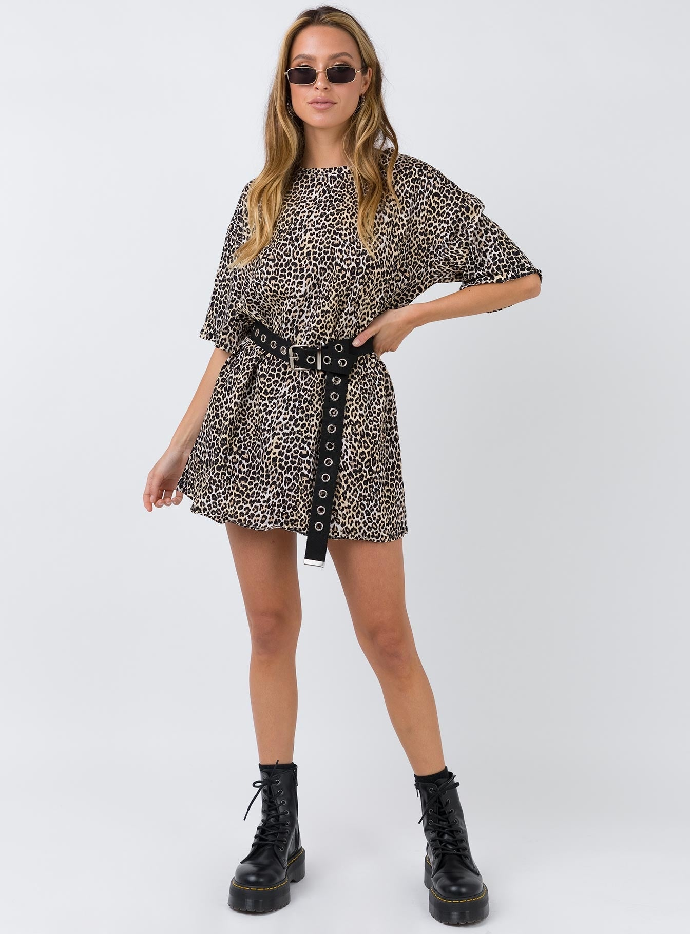 Motel Sunny Kiss Dress Rar Leopard