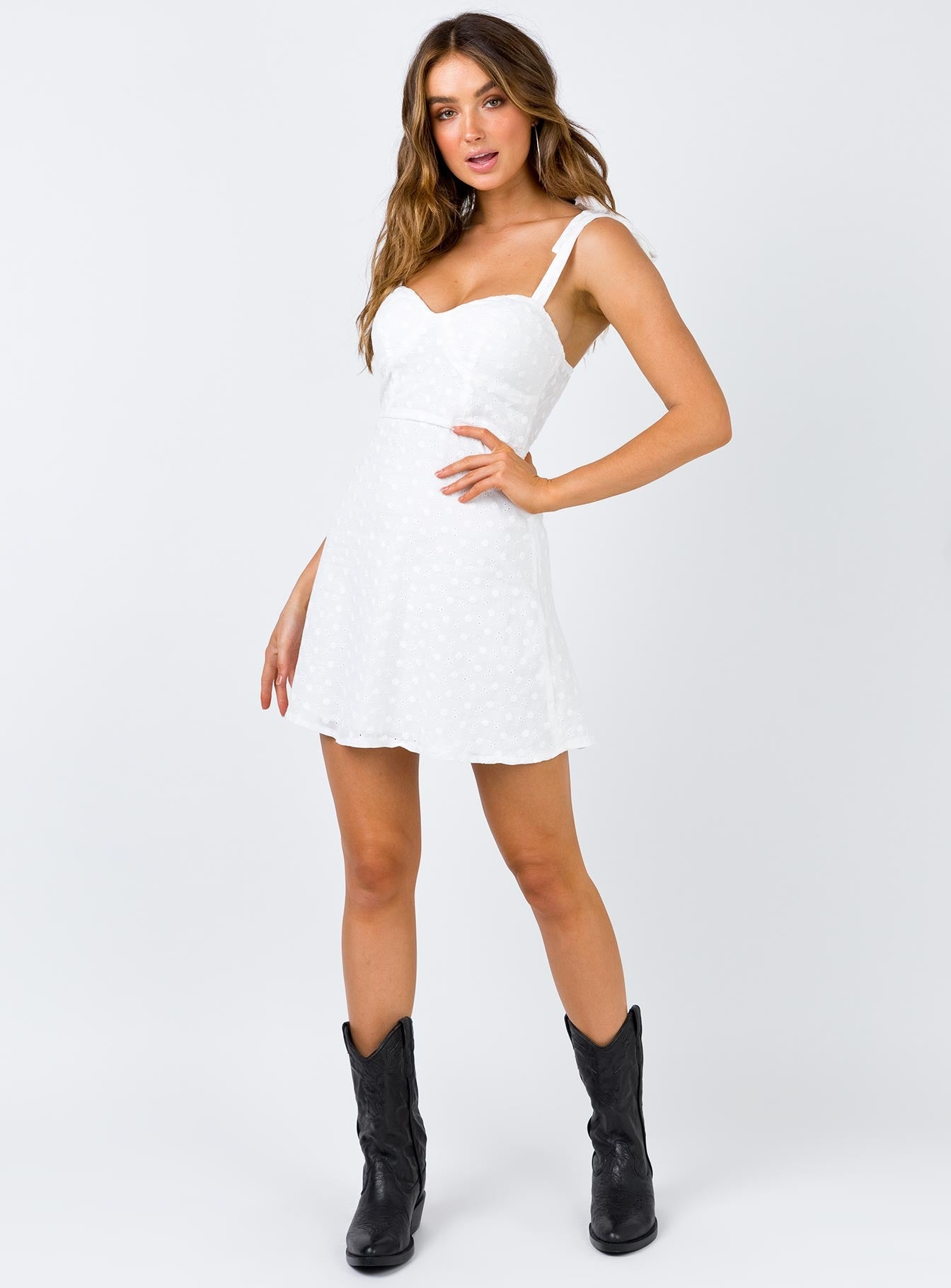 The Joseph Mini Dress White