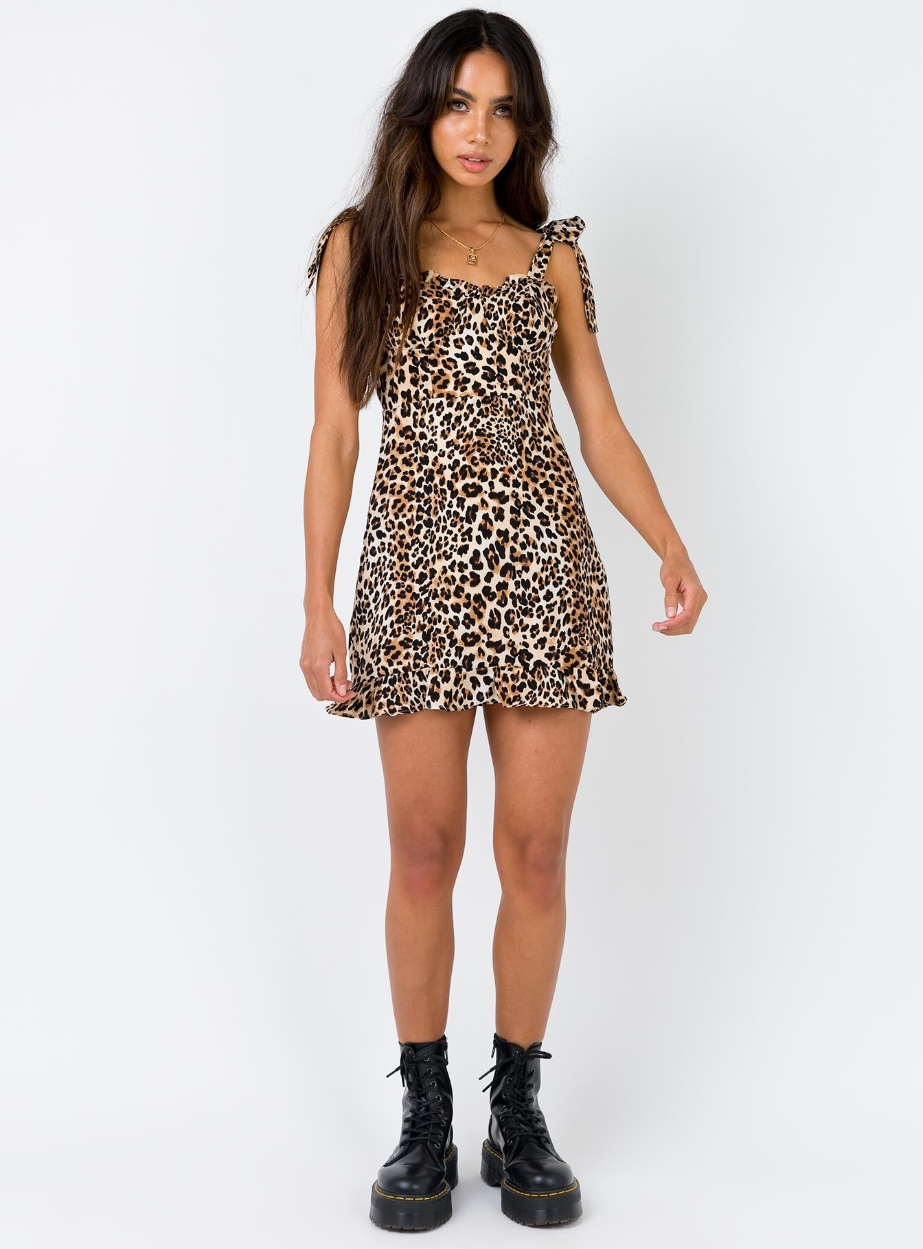 Halsey Mini Dress Leopard