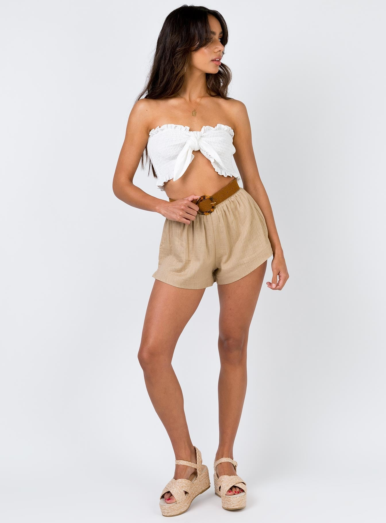 Beach House Shorts Wheat