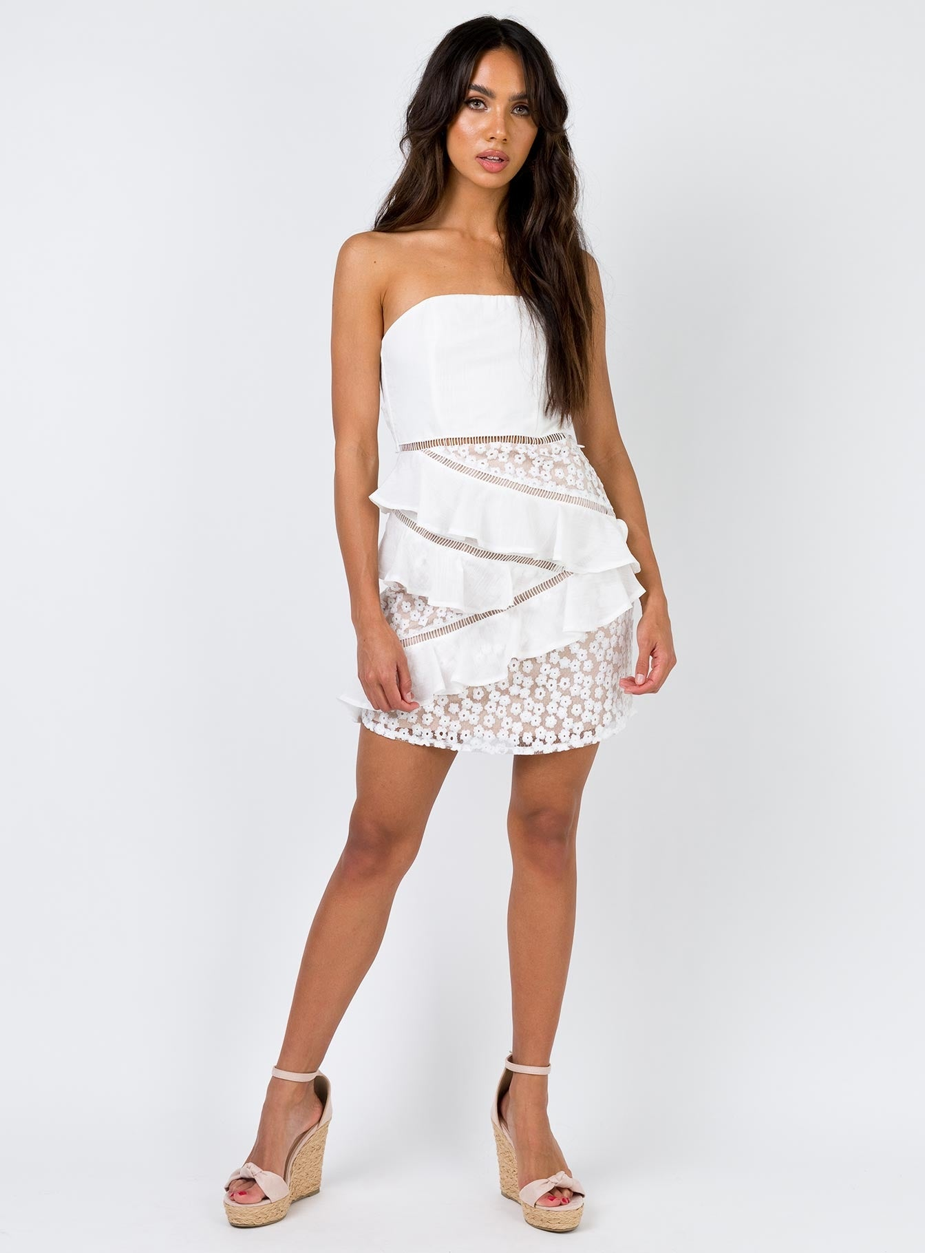 Alina Mini Dress White