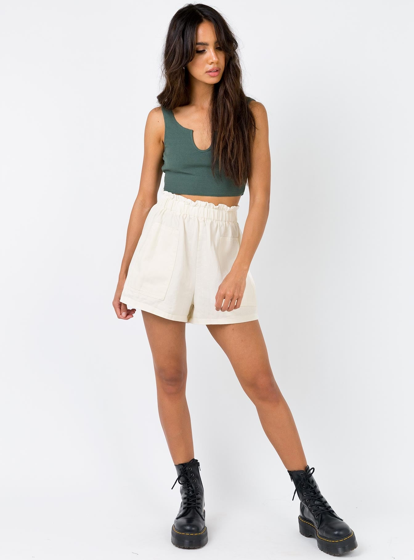 The Liaison Crop Top Khaki
