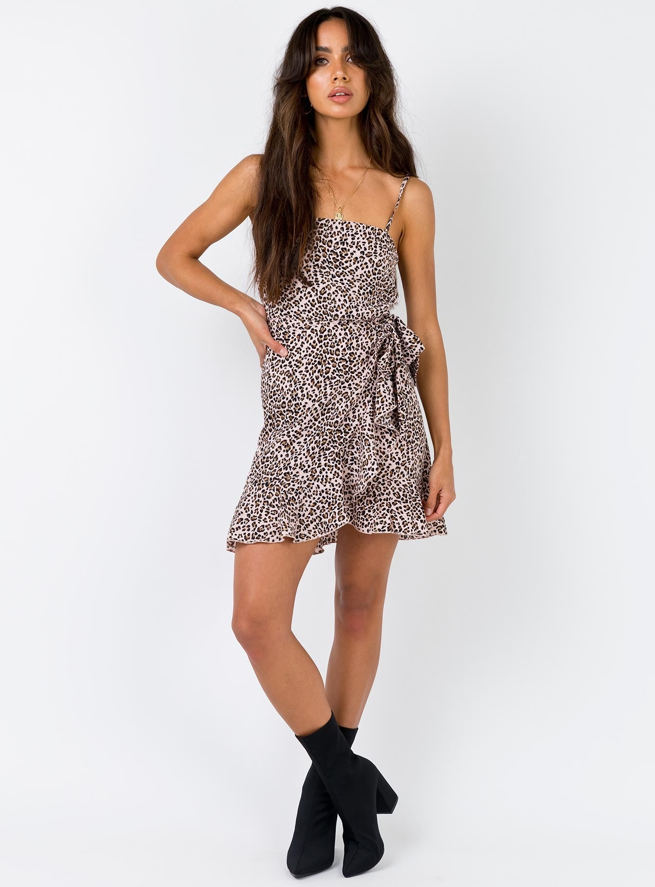 Ambae Mini Dress Leopard