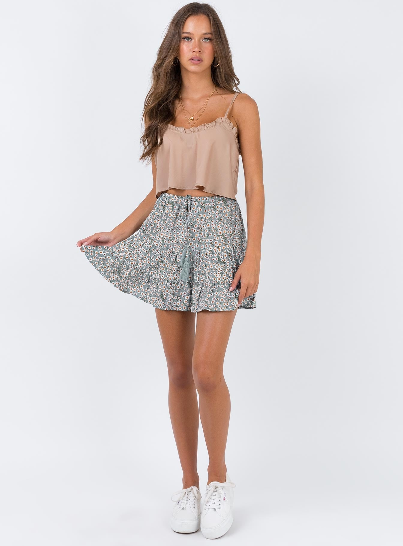 Tallong Mini Skirt Sage