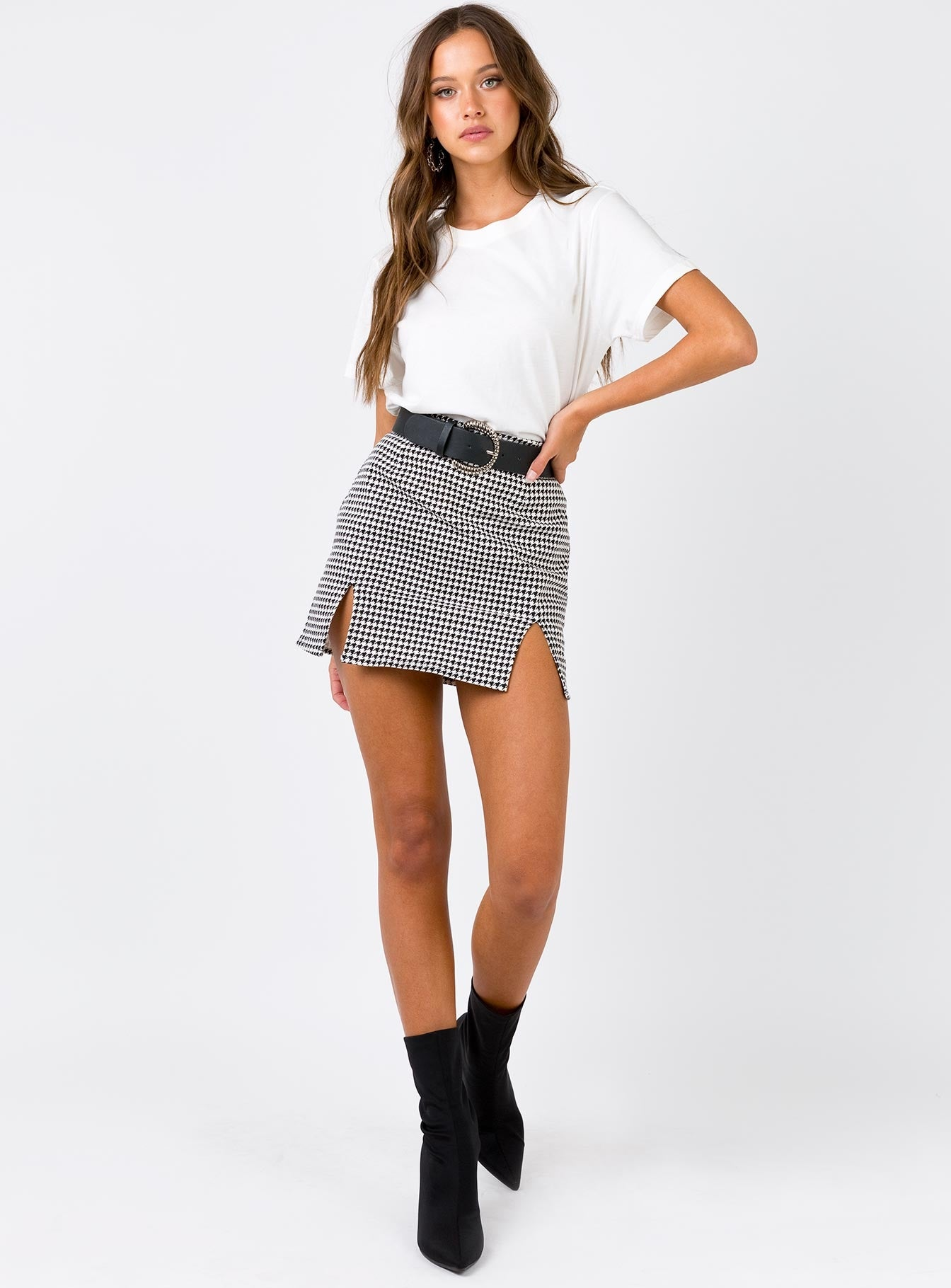 Motel Zida Skirt Black/White