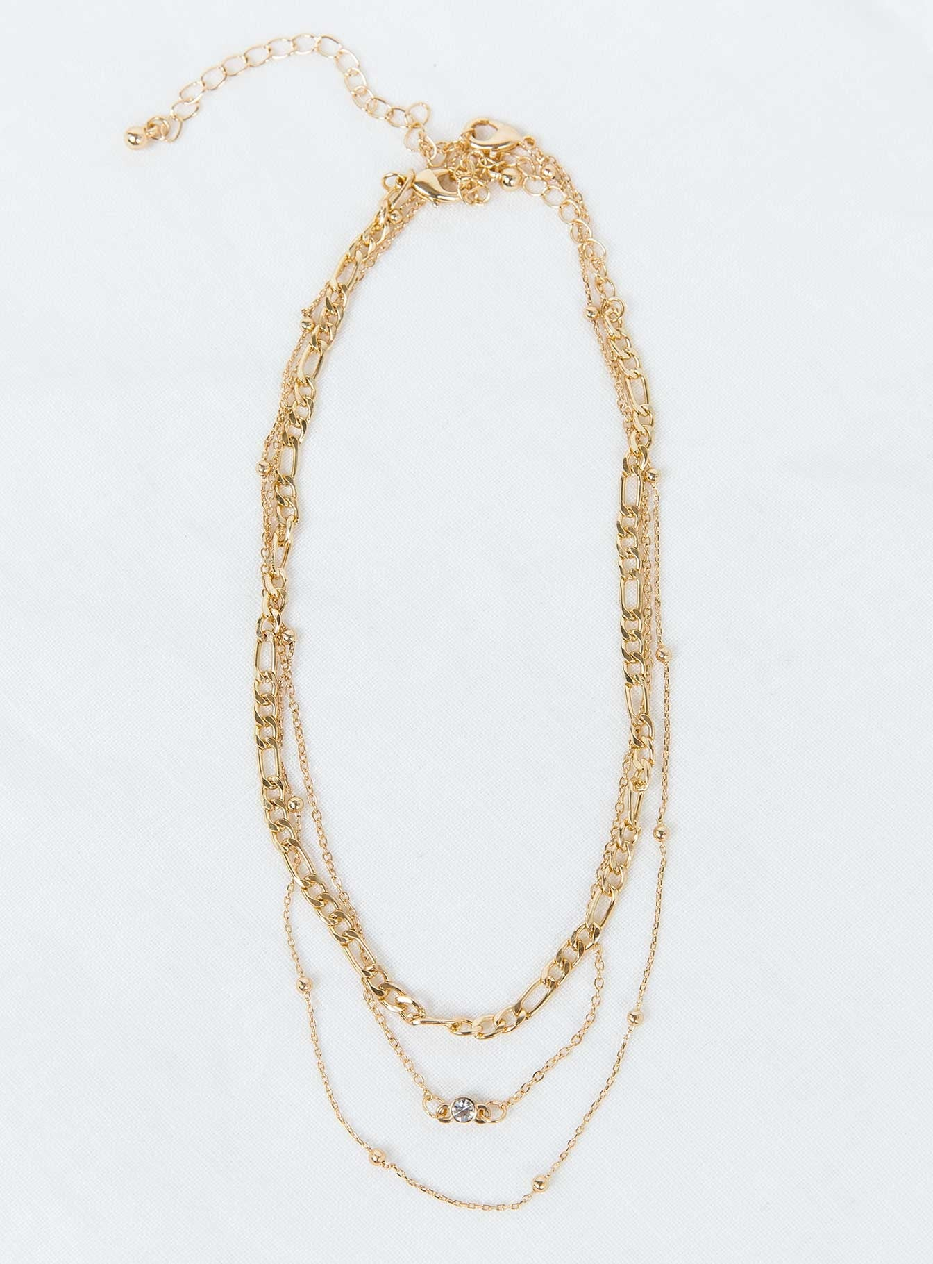 Elkie Dainty Necklace Set Gold
