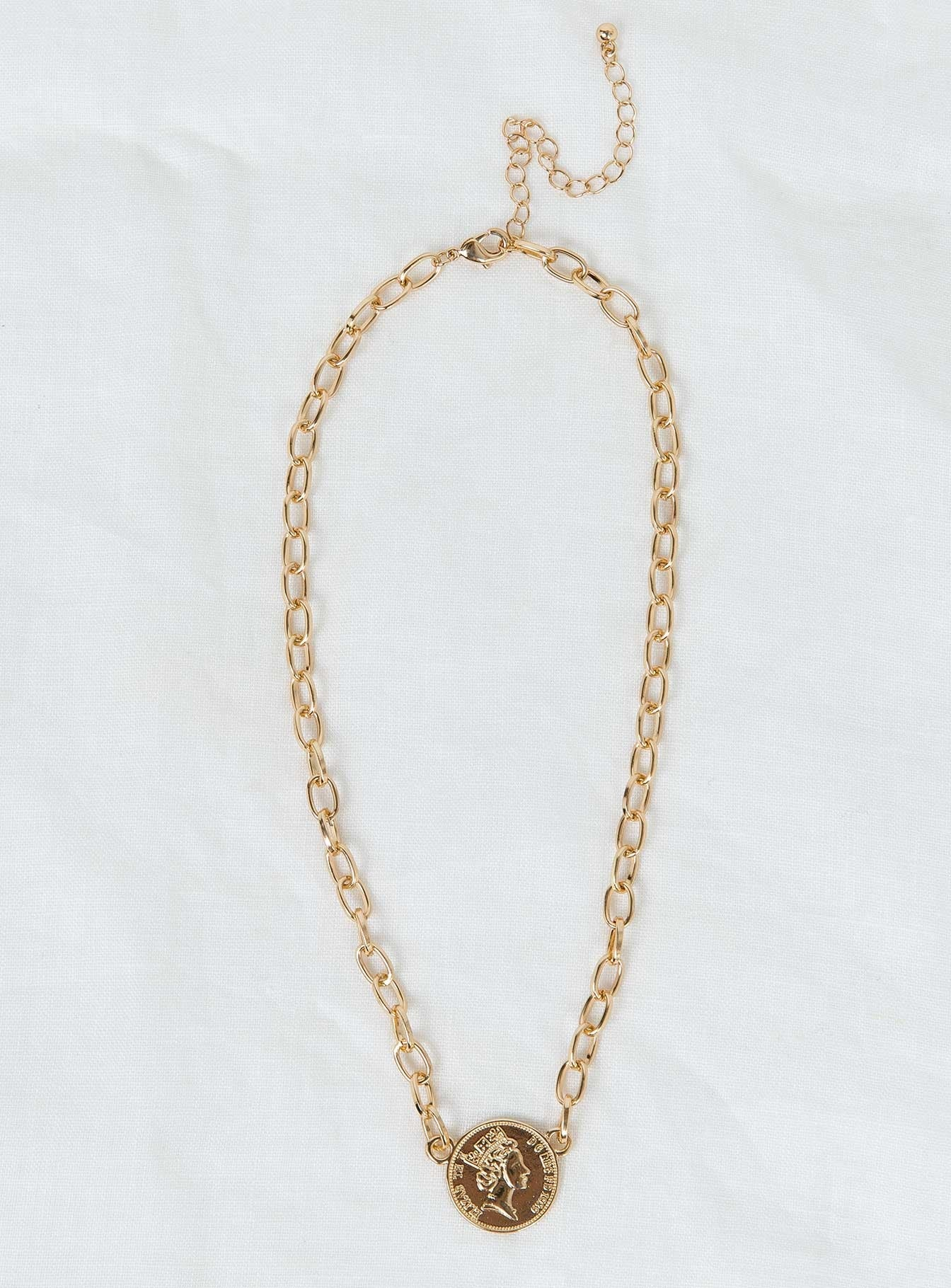 Josephine Coin Necklace Gold