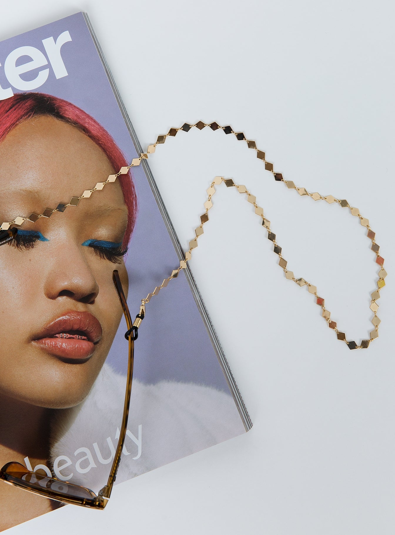 Quay Australia Sunnies Chain Gold