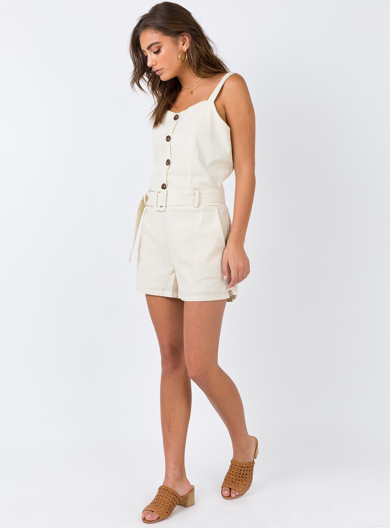March On Playsuit Cream