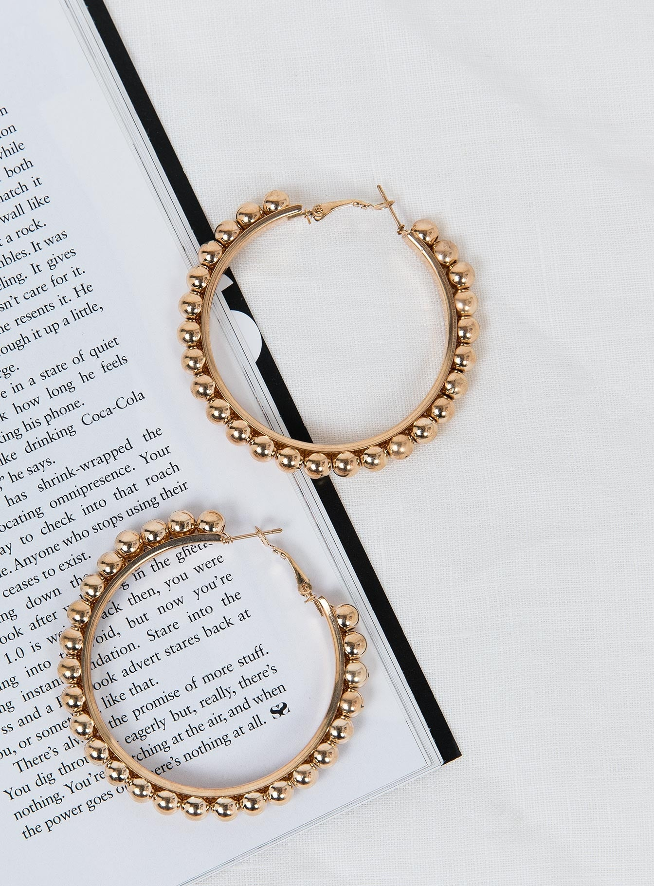 Beaded Hoops Gold