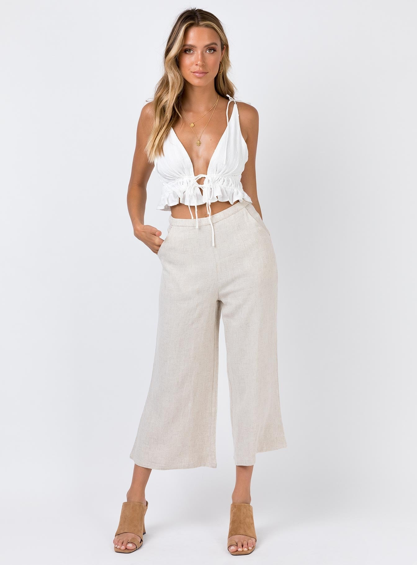The Roxette Pant Beige