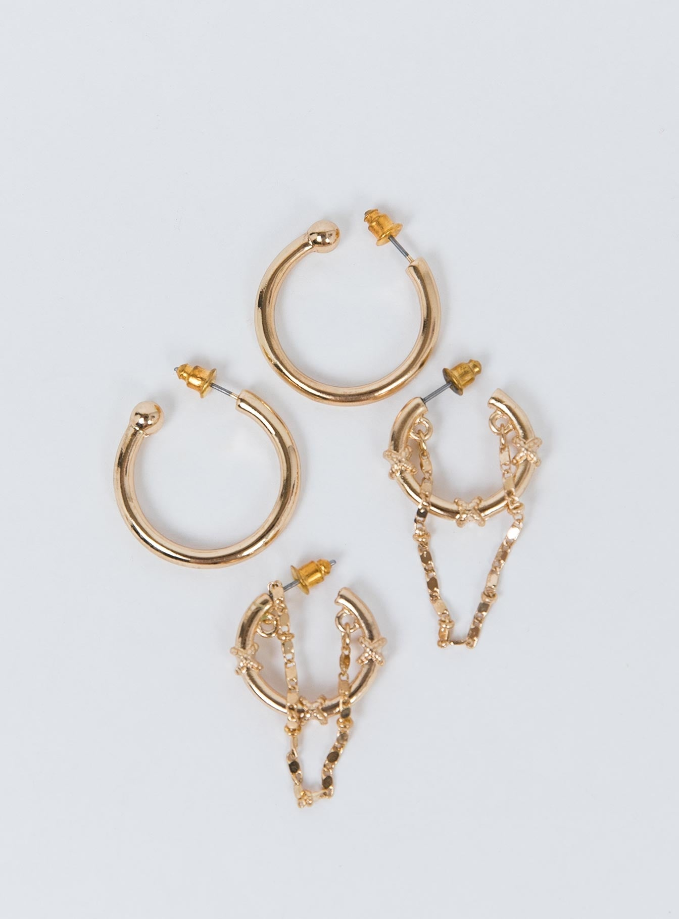 Minc Collections Oron Earring Set Gold