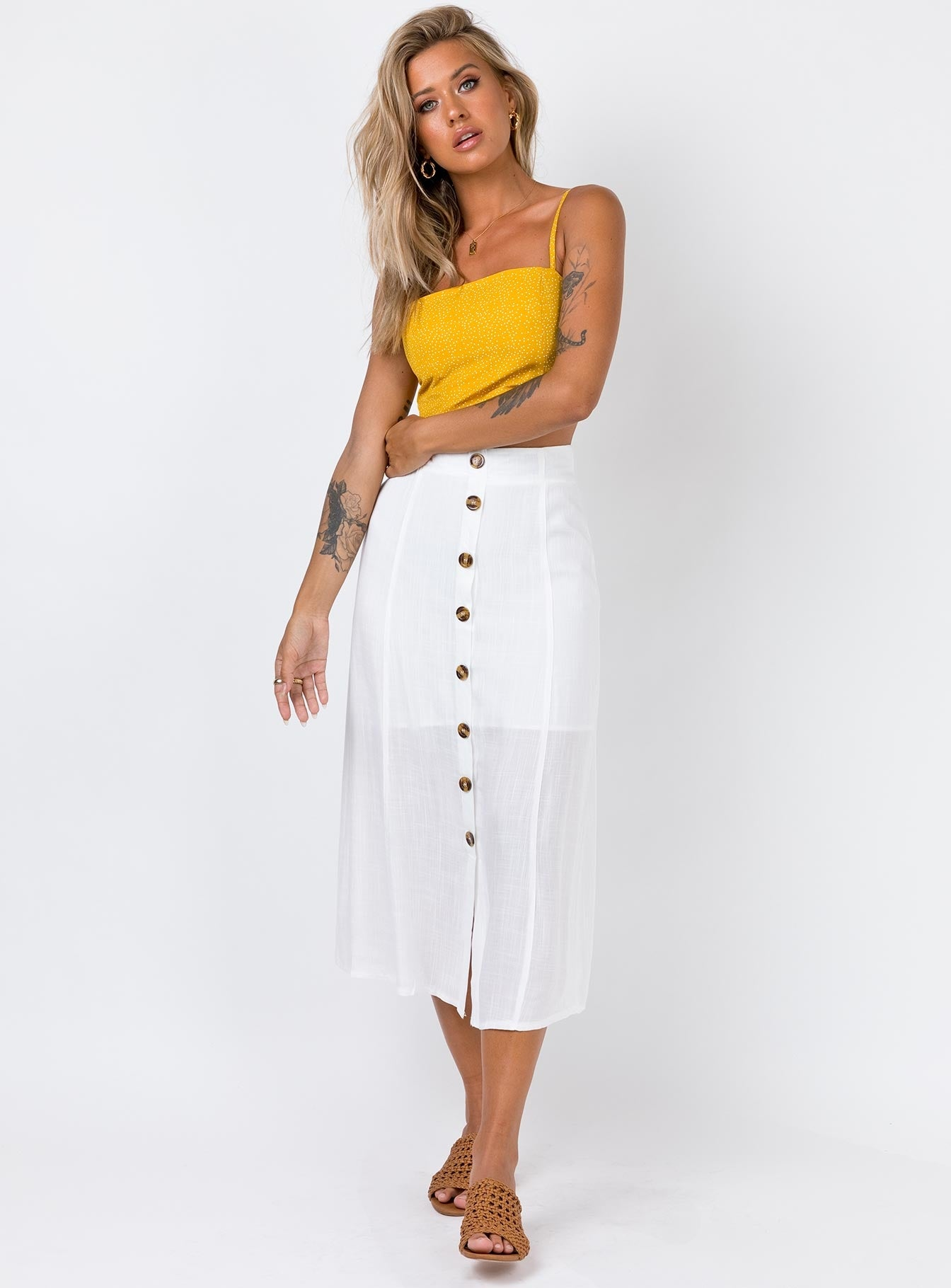 The Giselle Crop Top Mustard