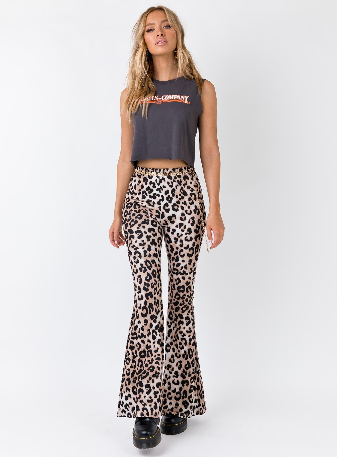 Leo Leopard Print Flares