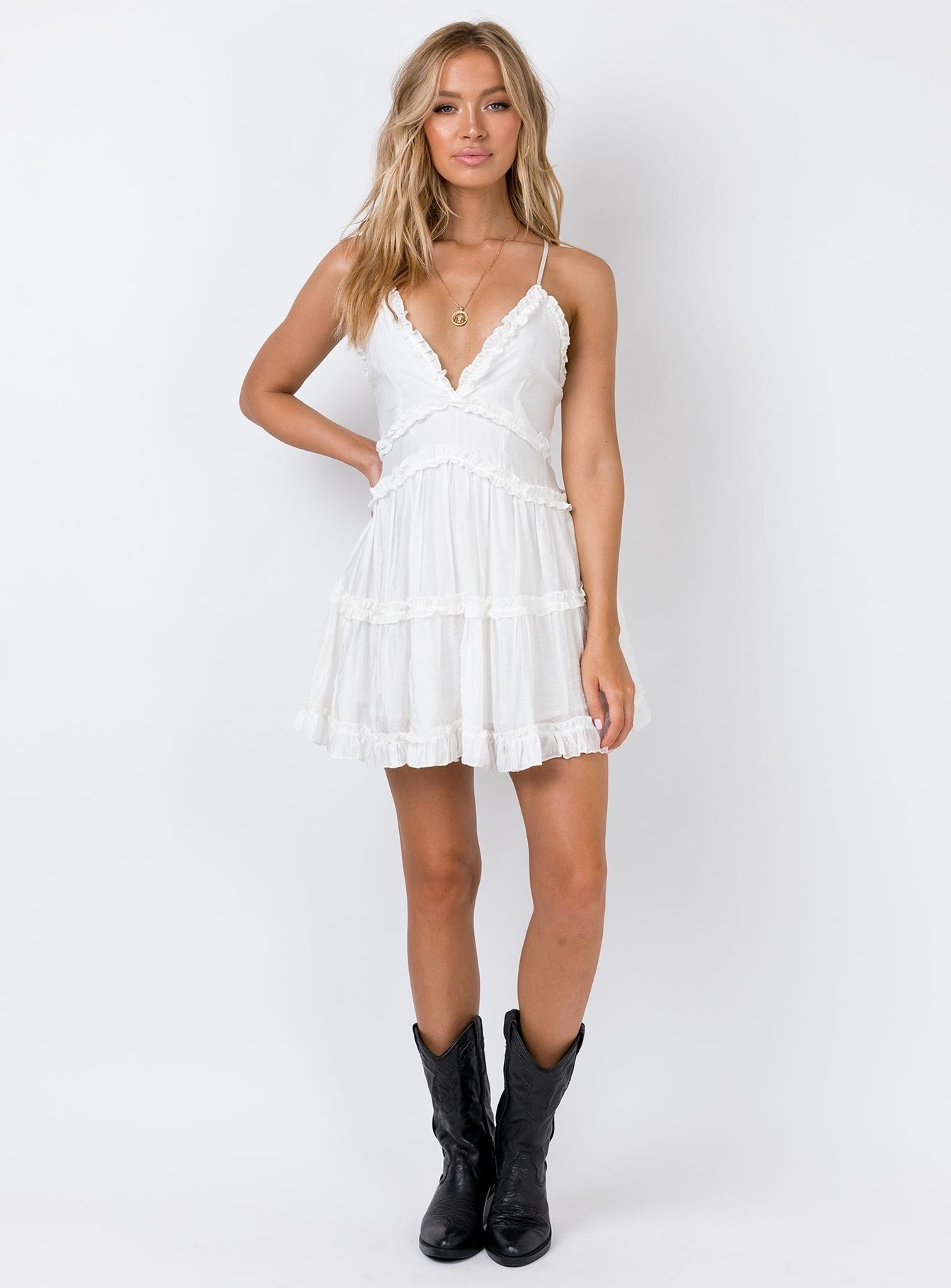 The Dawning Mini Dress White