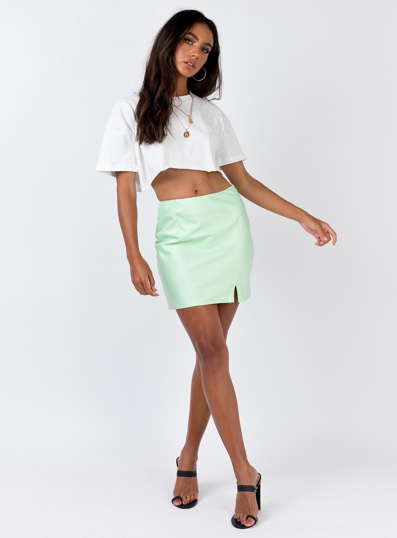 Marcel Mini Skirt Lime