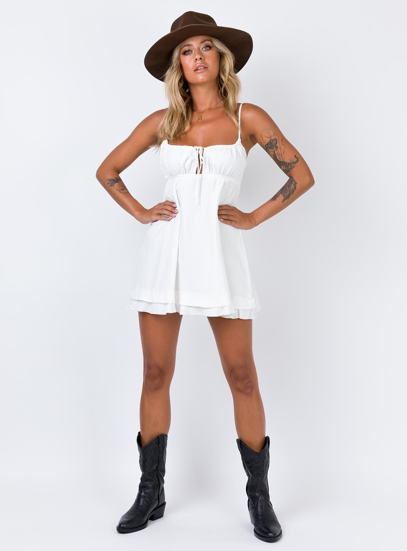 Empress Of Love Mini Dress White