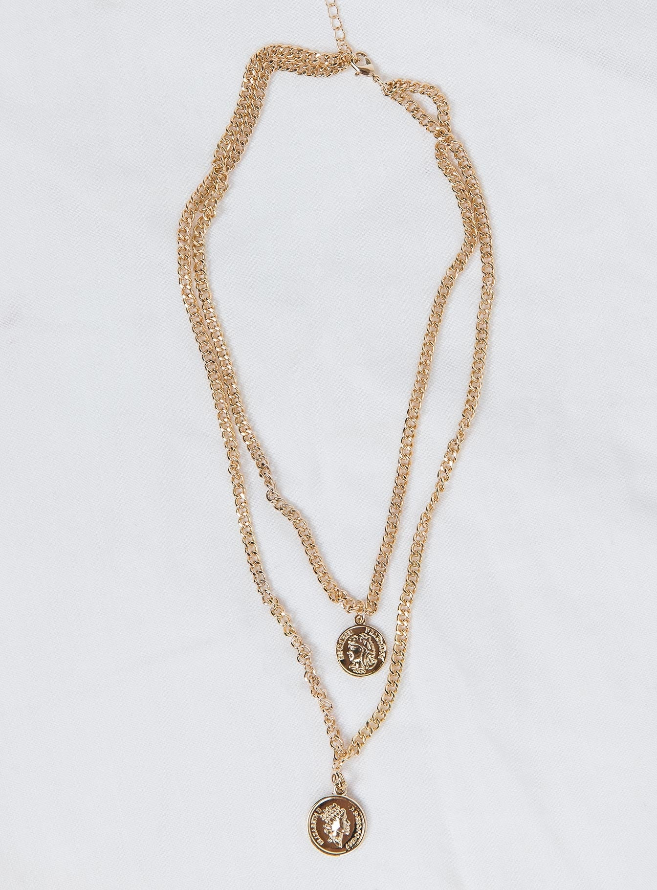 Aldous Coin Necklace Gold