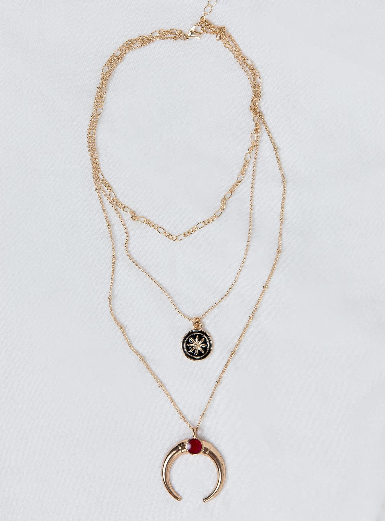 From Eden Layered Necklace Gold