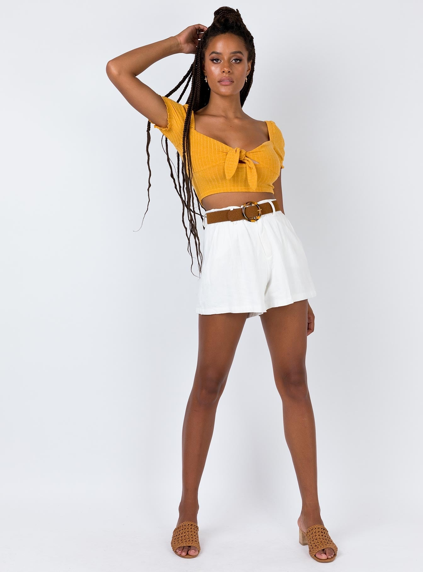 Billie Tate Shorts White