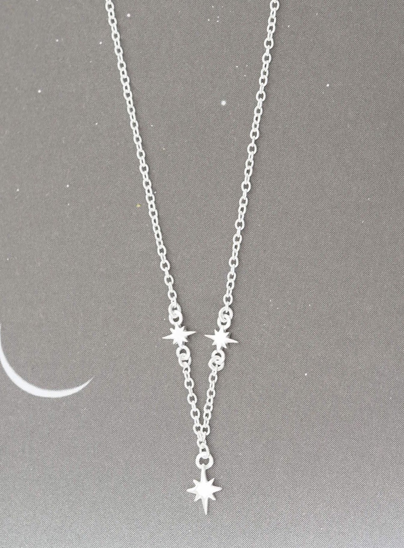 Midsummer Star Celestial Star Necklace Silver