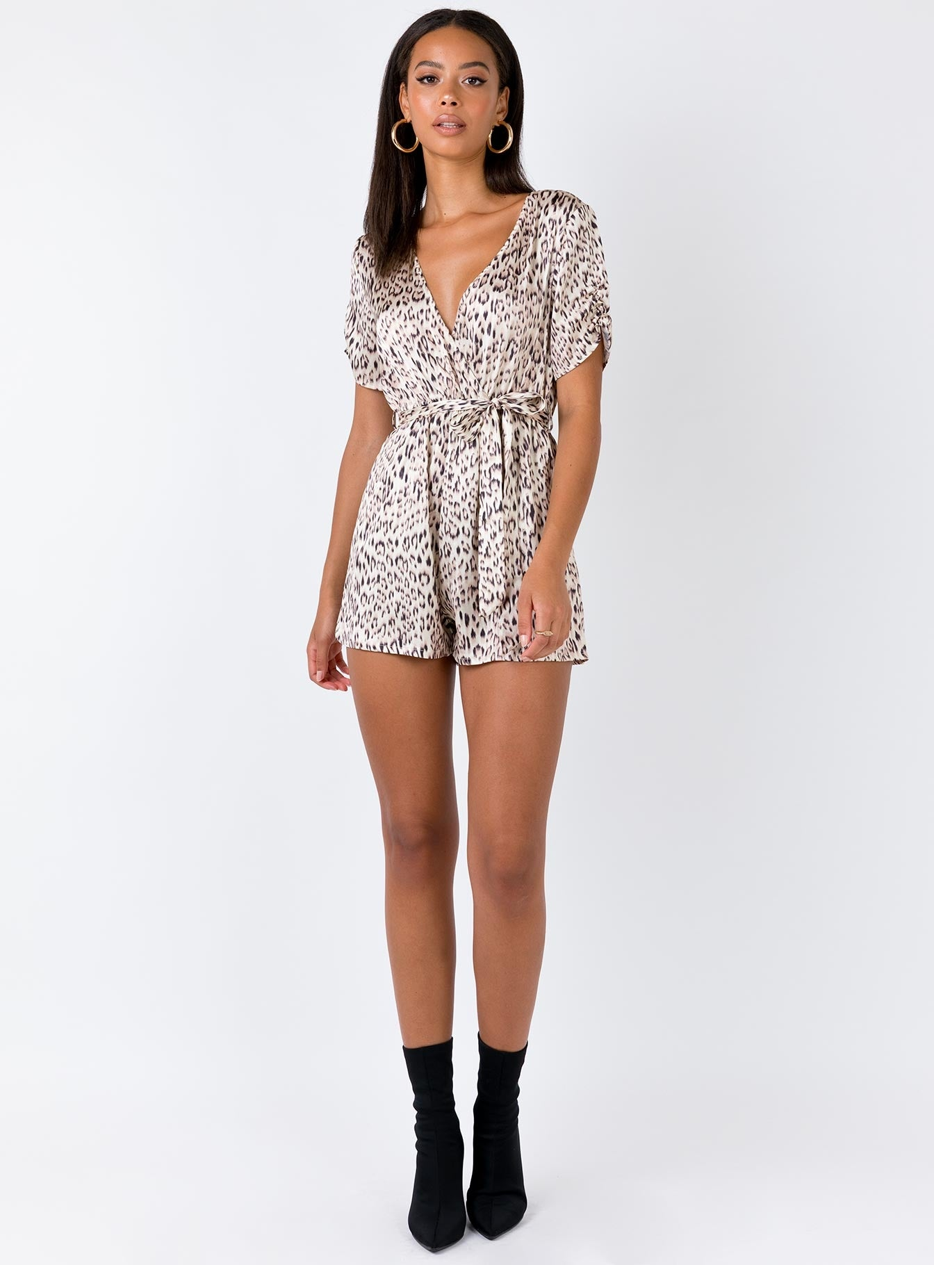 The Theo Playsuit Beige