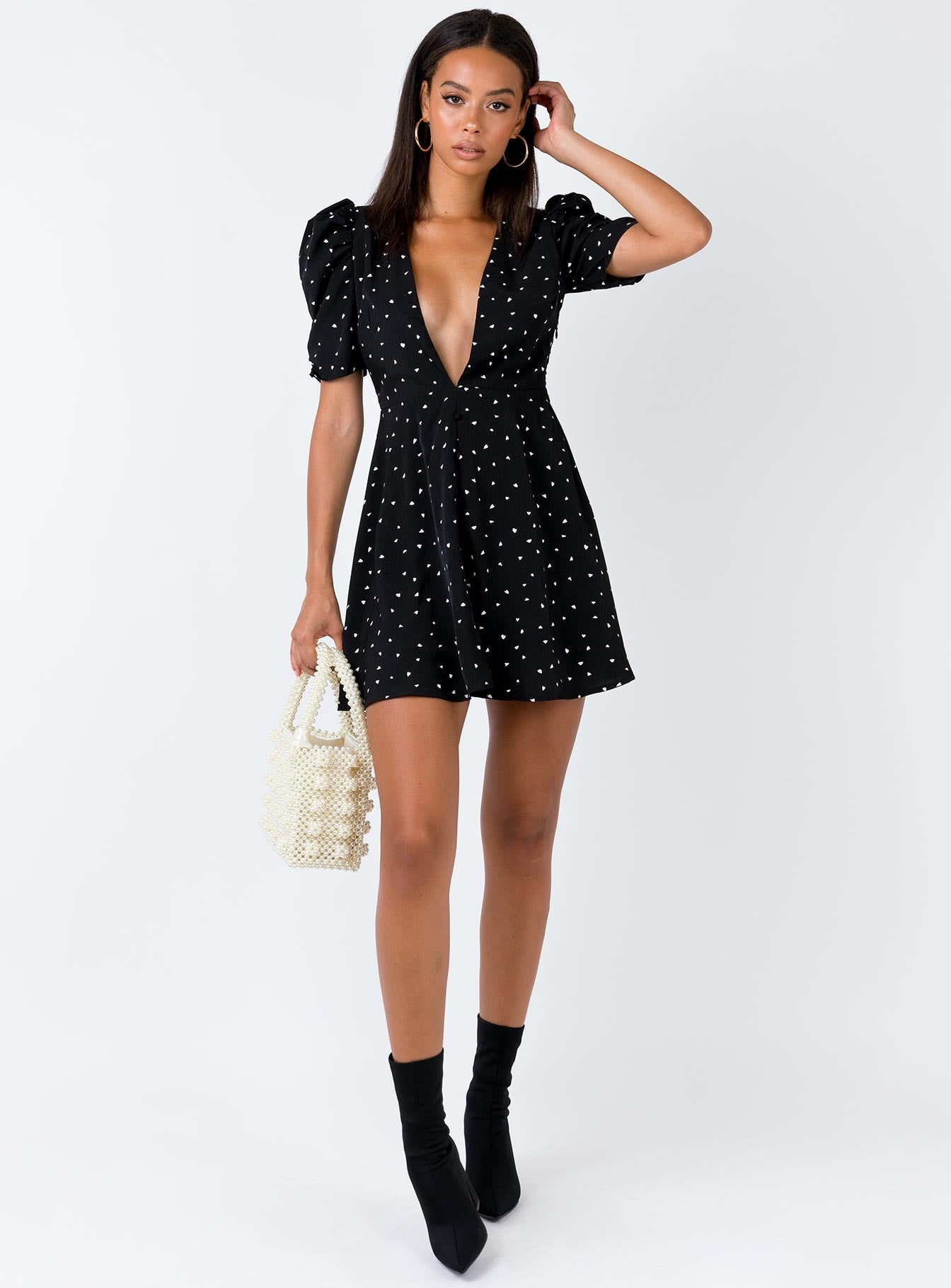 Ask Anything Mini Dress Black