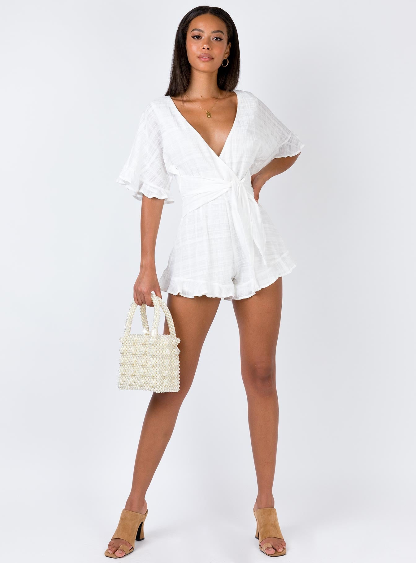 The Looker Playsuit White