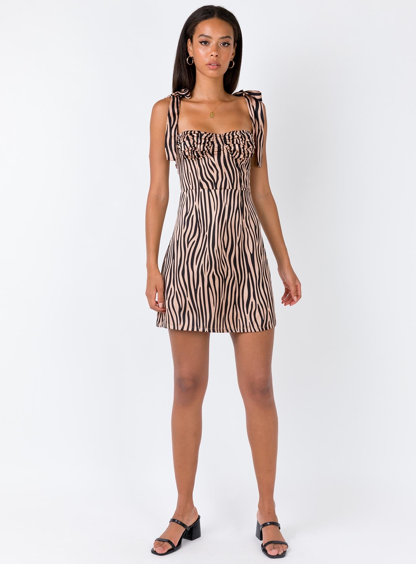 Women Like Me Mini Dress Beige