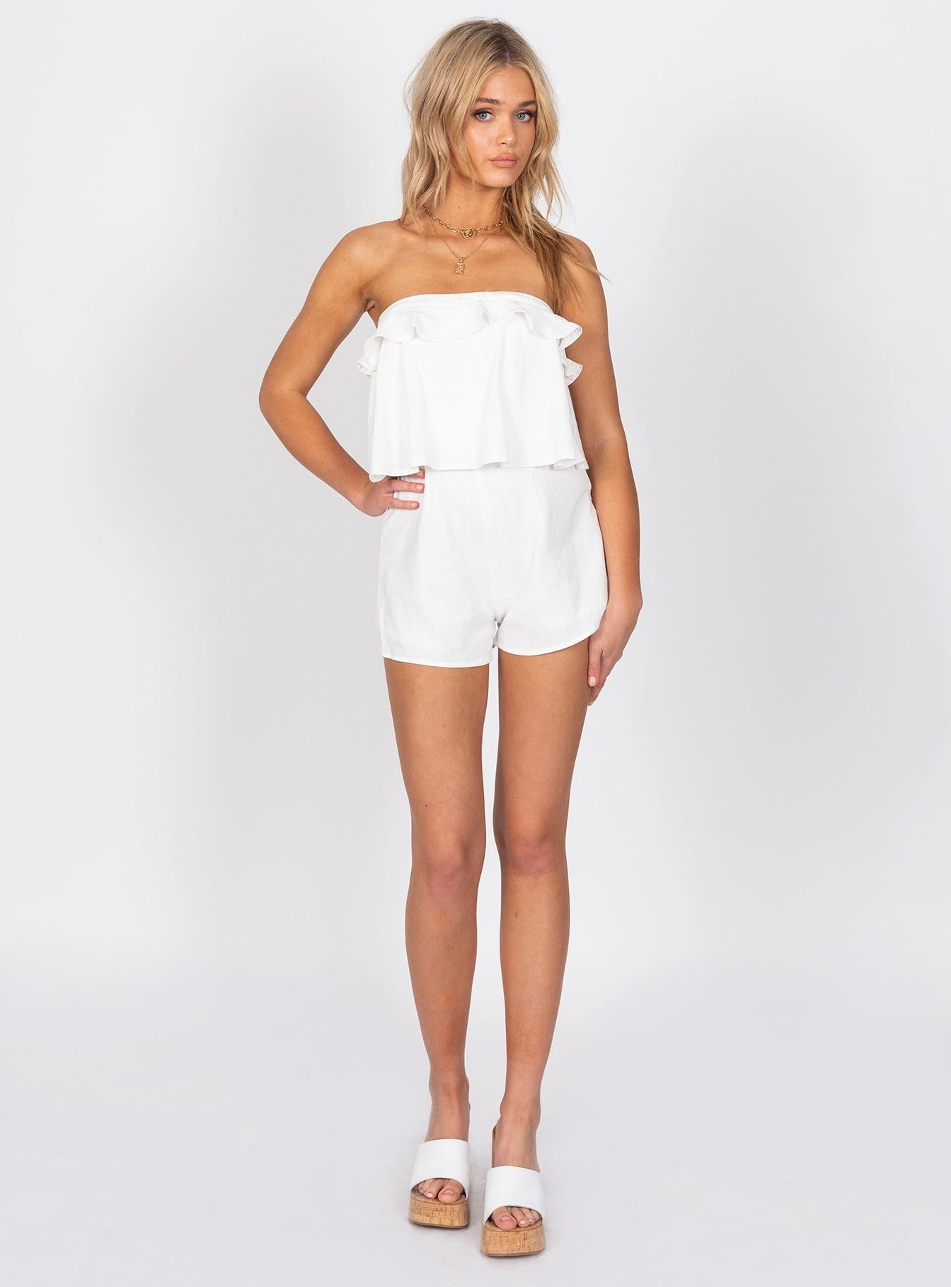 Santeria Playsuit White