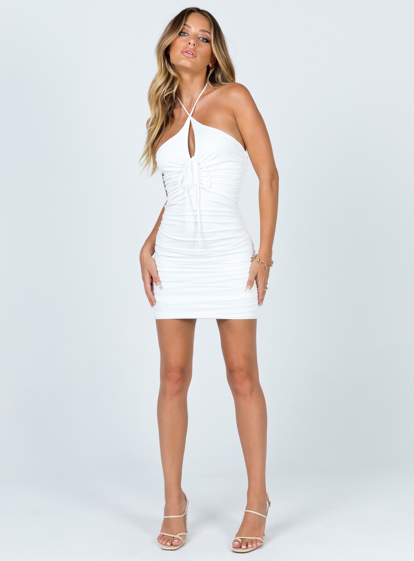 Ellis Mini Dress White