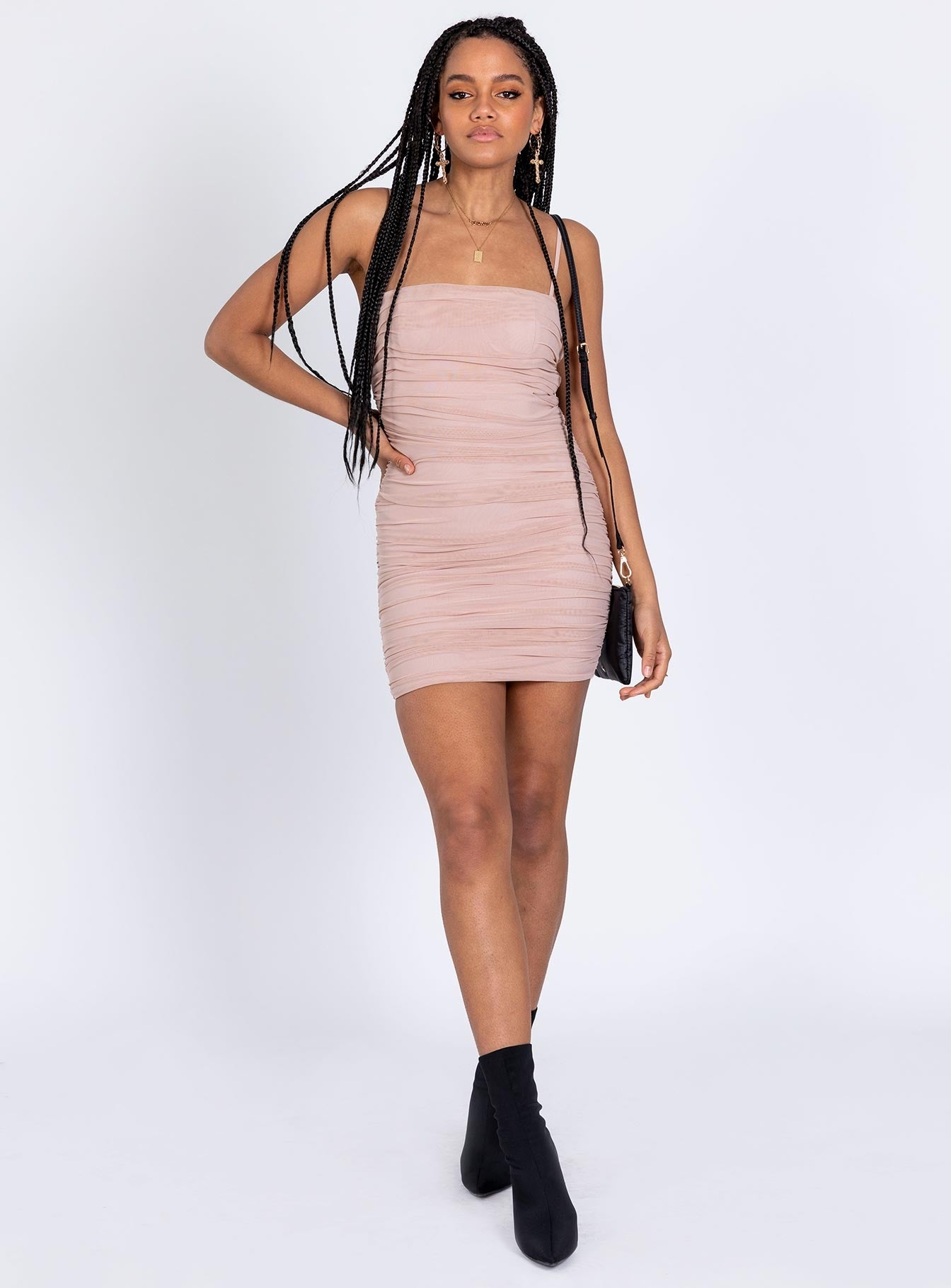 The Camey Mini Dress Baby Pink