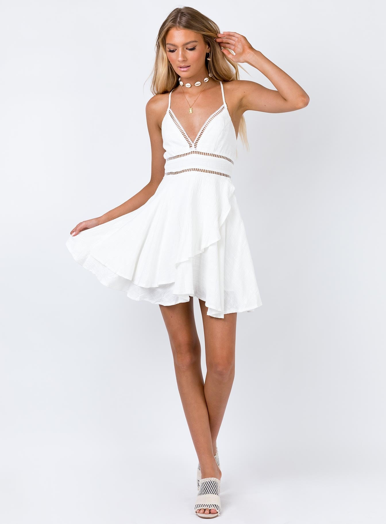 Nayla Mini Dress White