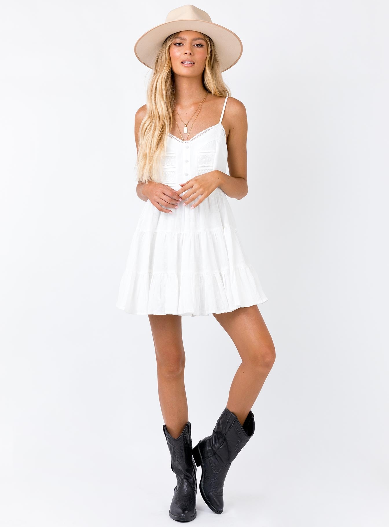 Dlaney Mini Dress White