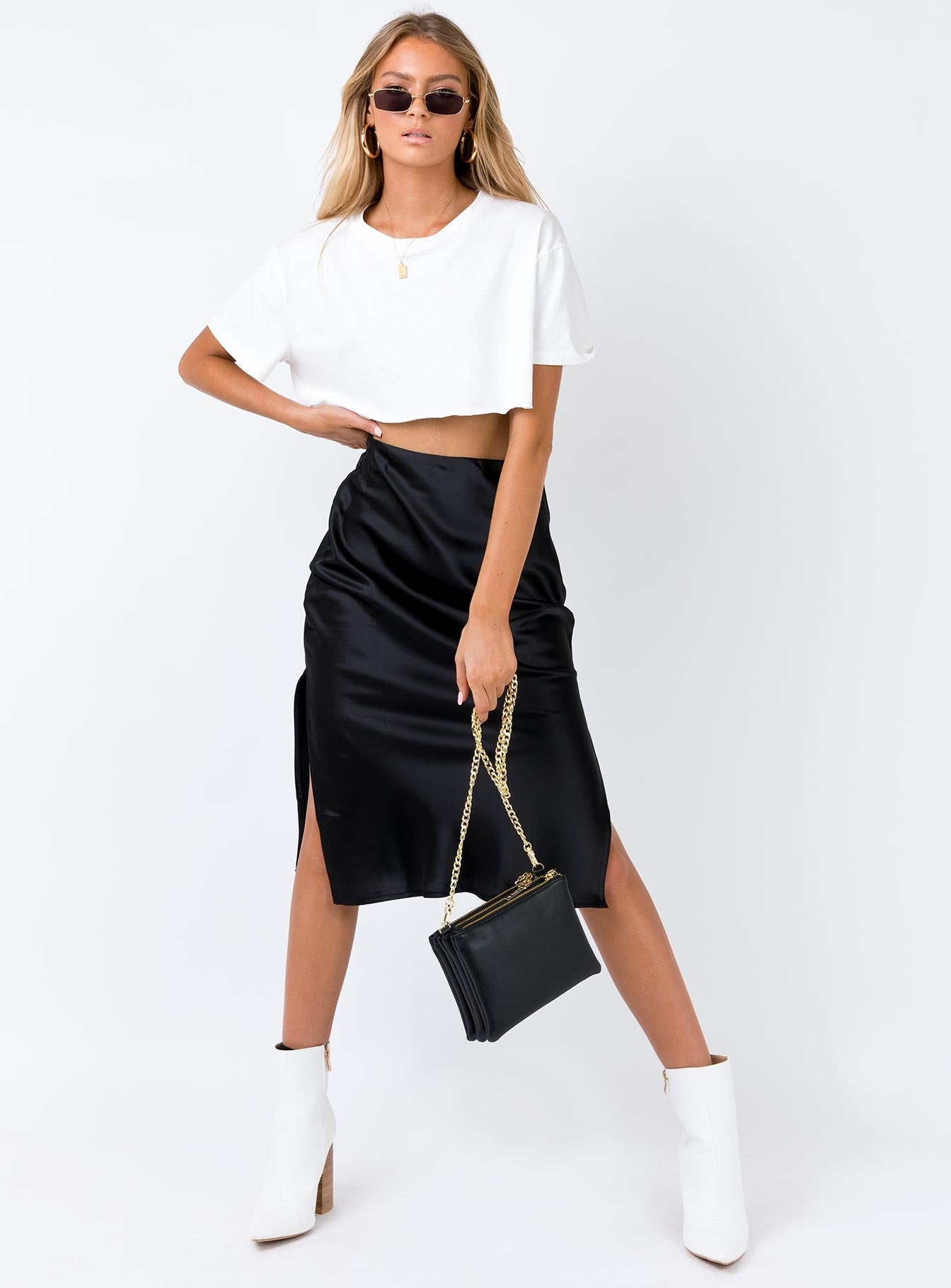 Cleo Lavoe Midi Skirt Black