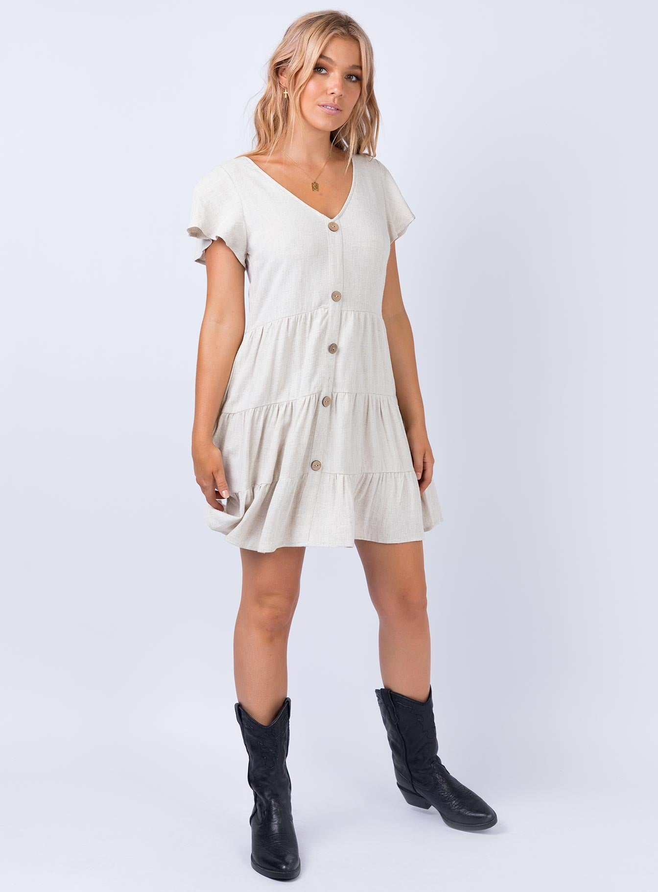 Talora Mini Dress Beige
