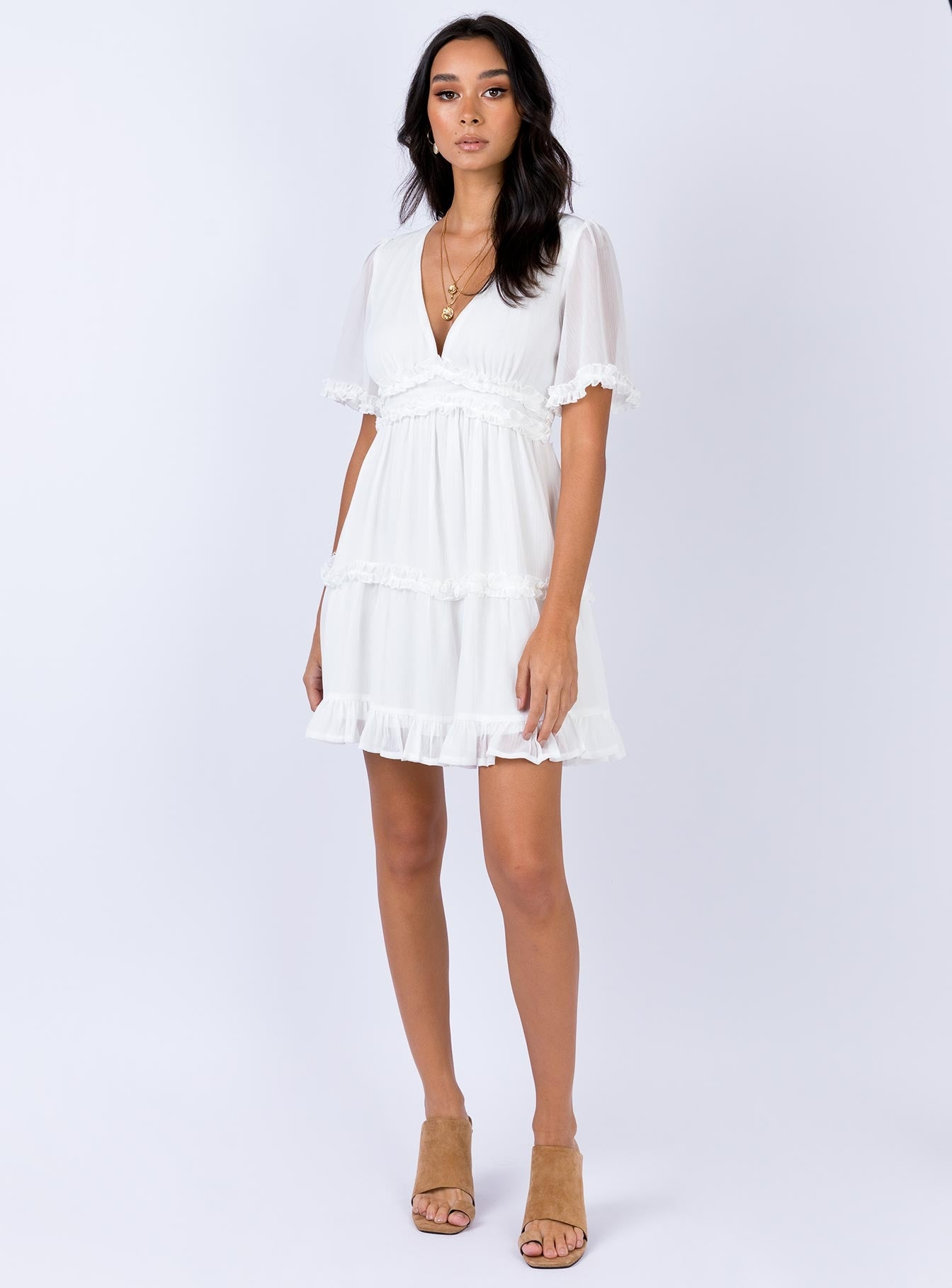 Ferocity Mini Dress White