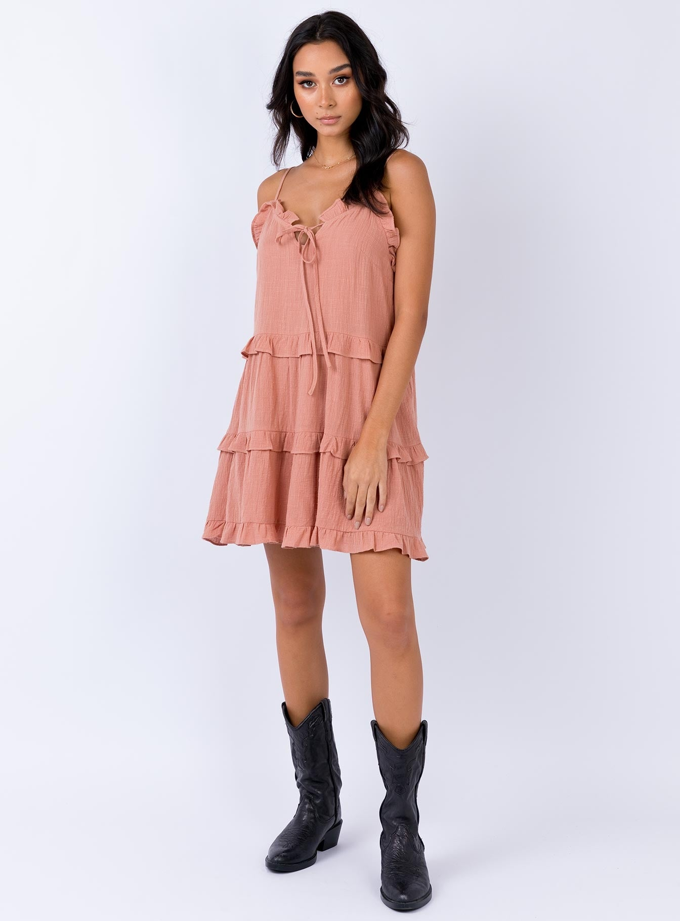 Lima Mini Dress Rust