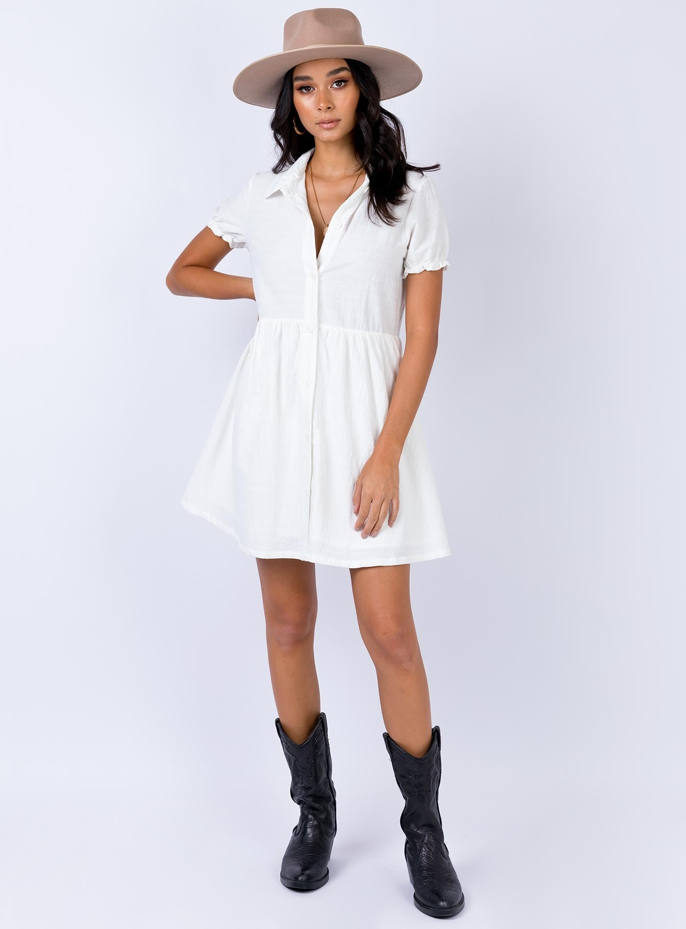 Roper Mini Dress White