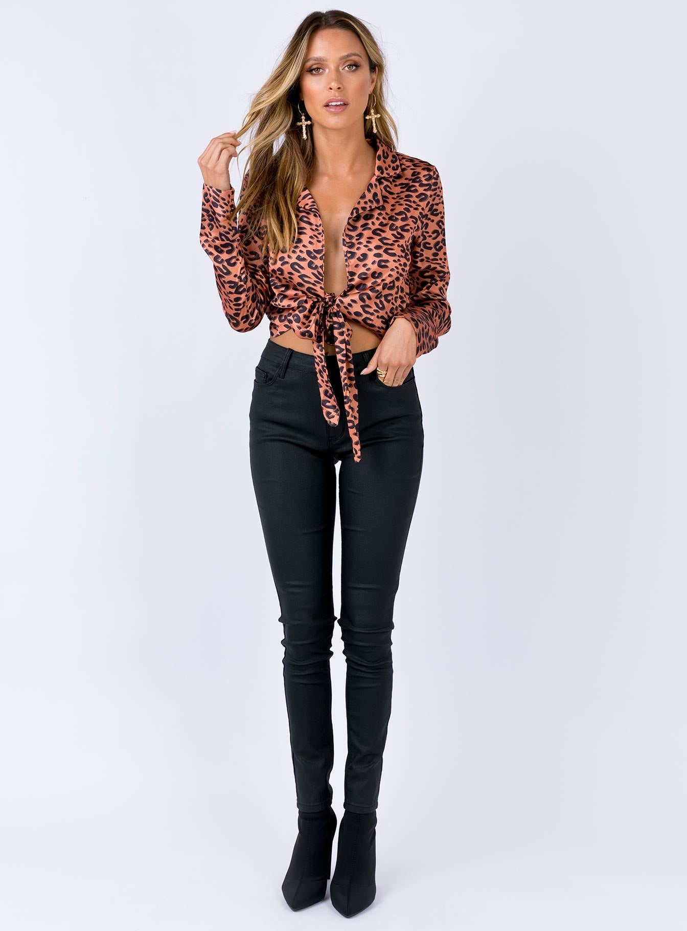 Fierce Wrap Top Leopard