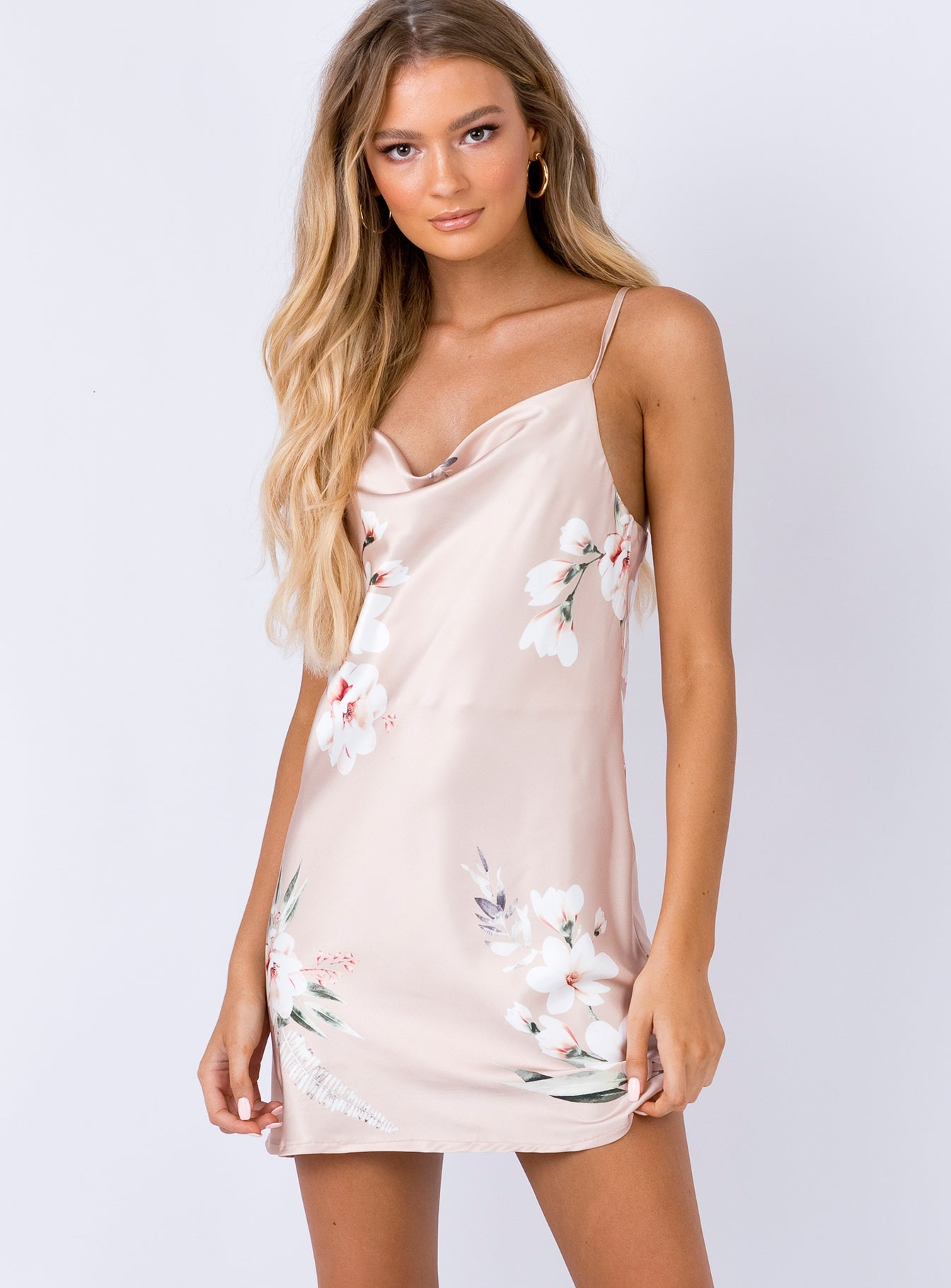 Sunshowers Mini Dress Beige