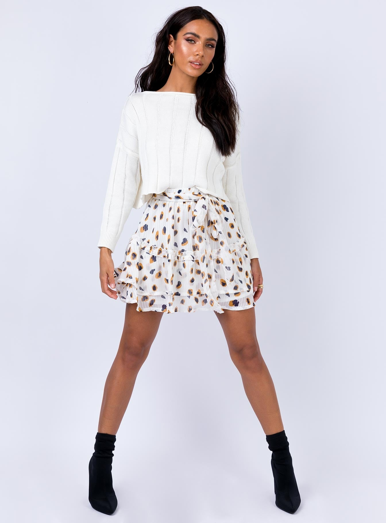 Worton Mini Skirt White