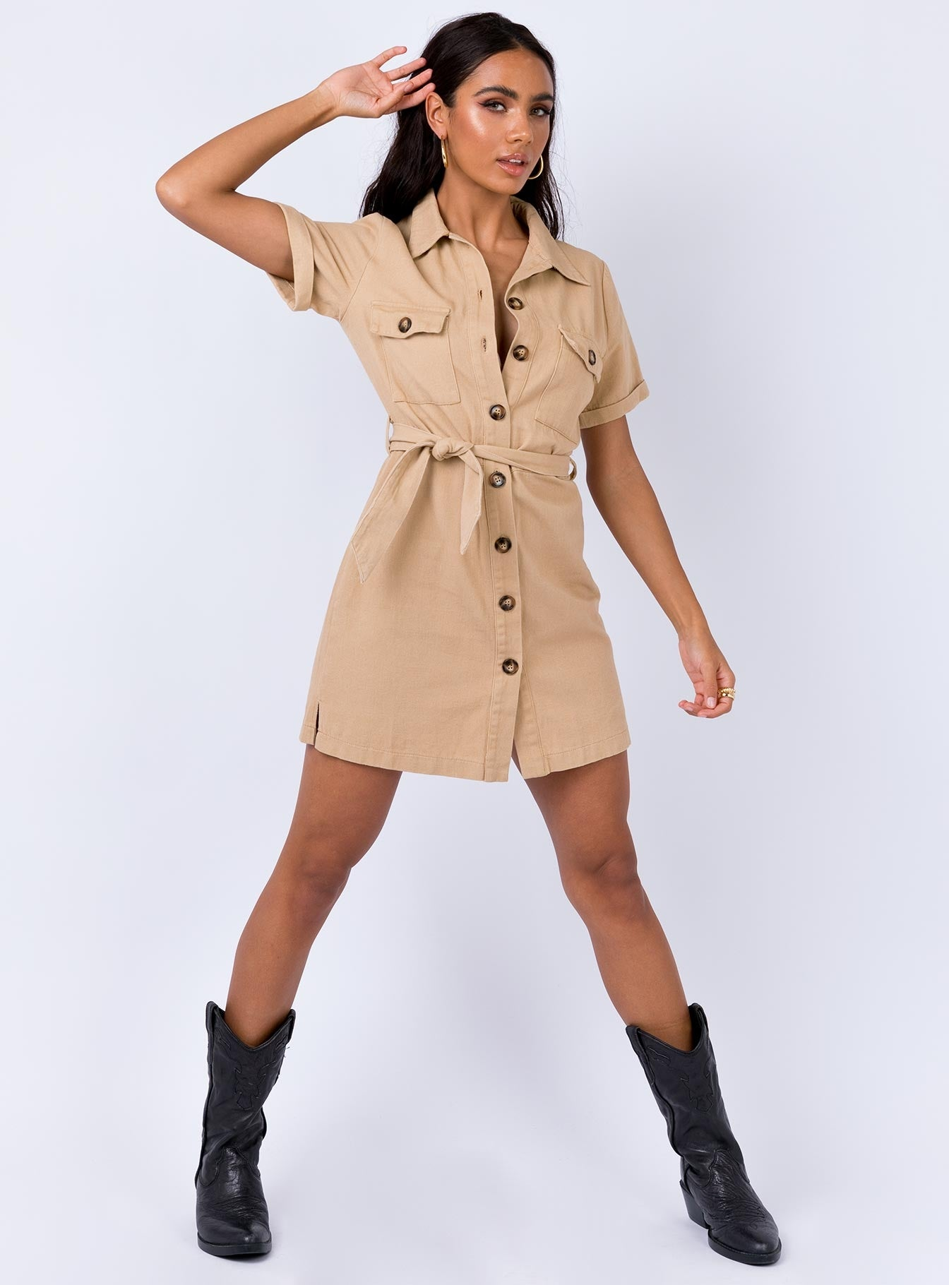 Tertis Mini Dress Sand