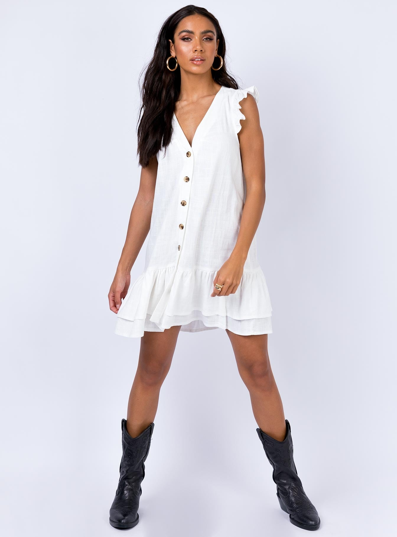 Rigg Mini Dress Off White
