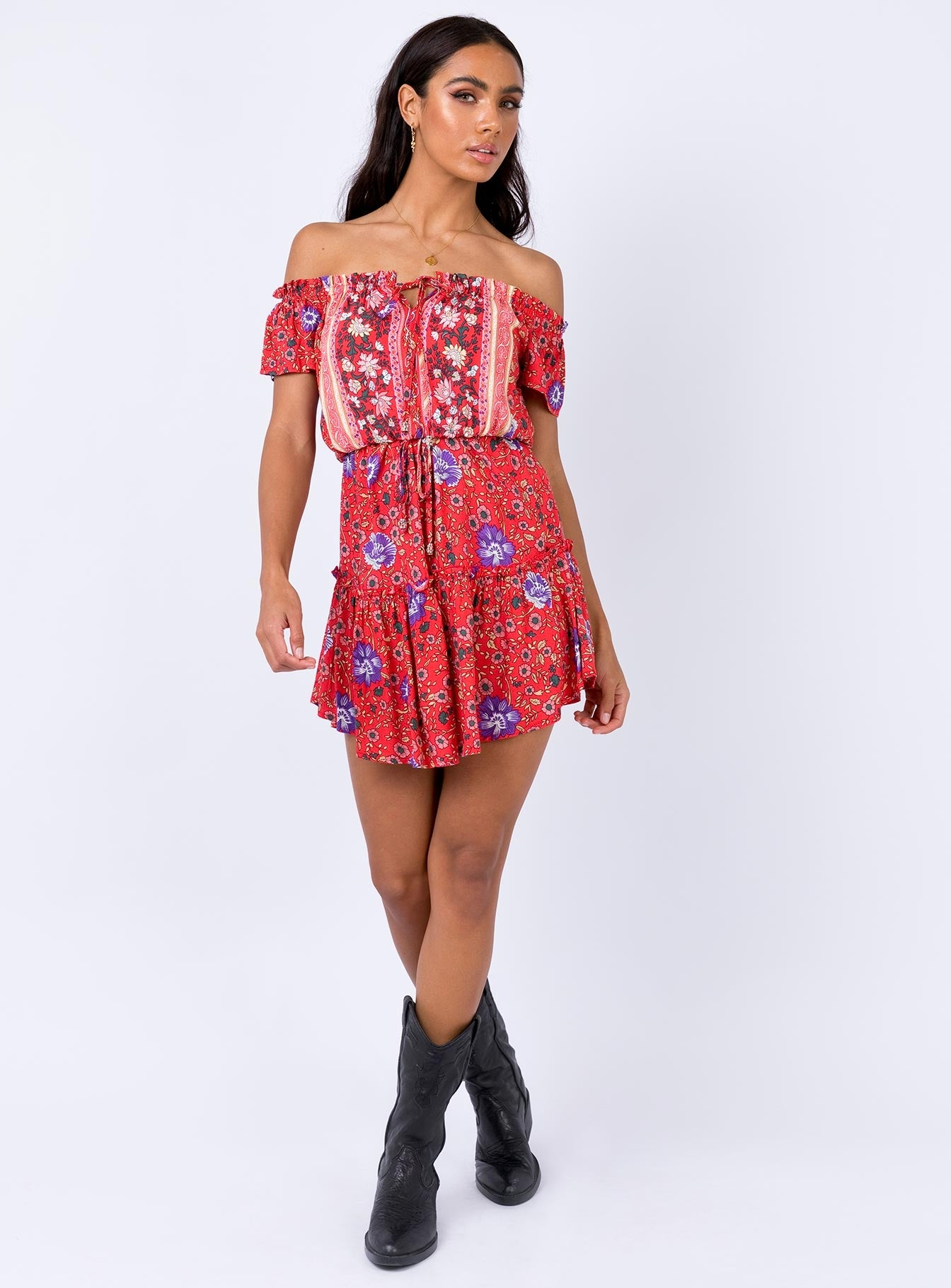 Talise Mini Dress Red