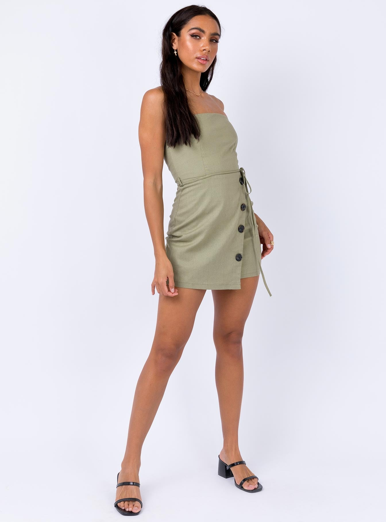 Bordon Mini Dress Khaki