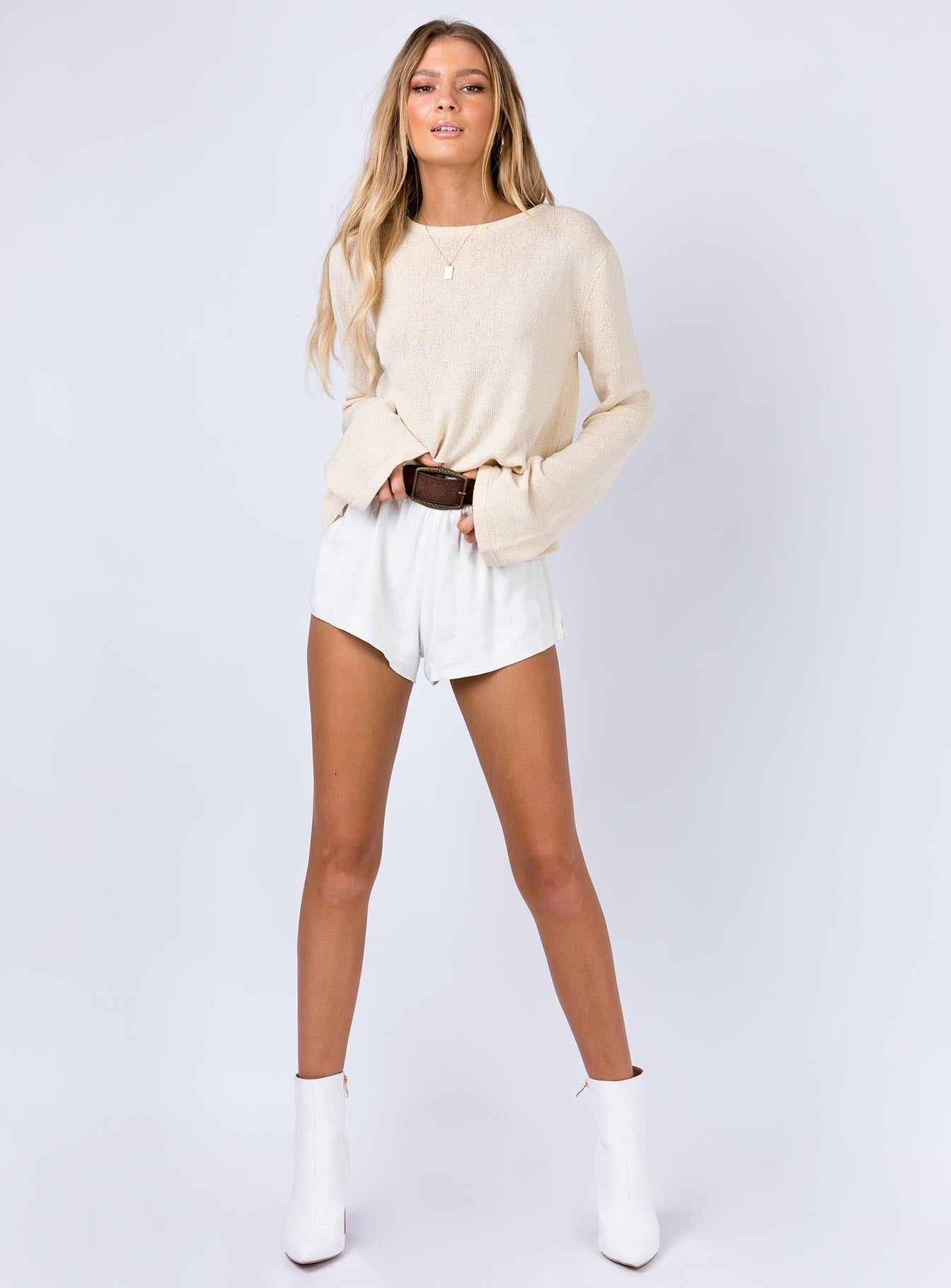 Lilith Knit Top Beige